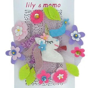 Girls Multicolor Forrest Unicorn Hair Clip Size OS